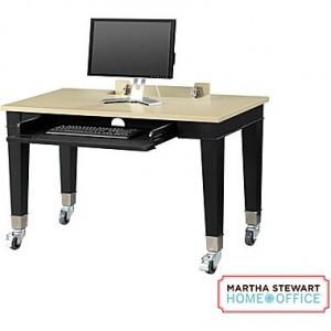 Martha Stewart Home Office Chase Desk, Coal Black