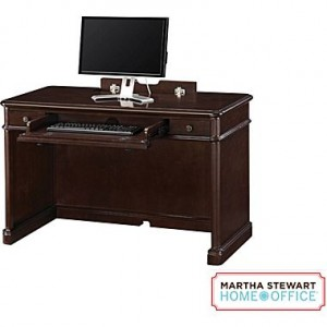 Martha Stewart Home Office Tyler Desk, Molasses Brown