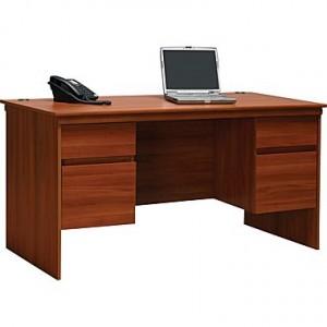 Ameriwood Tiverton Executive Desk, Expert Plum