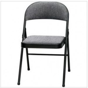 Samsonite 3200 Series Padded Folding Chairs, Black/Mist