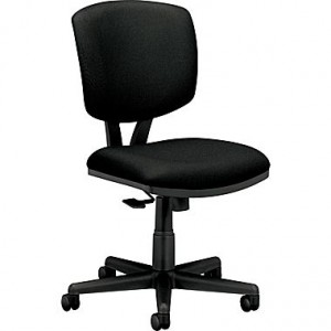 HON Volt H5701 Series Mid-Back Armless Fabric Task Chair, Black