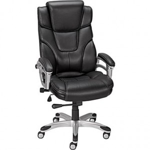 Baird Bonded Leather Managers Chair, Black