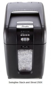 Swingline Stack-and-Shred 250X Shredder