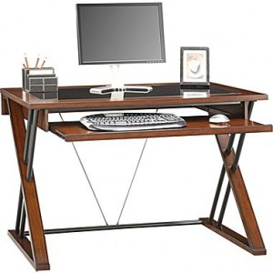 Whalen Astoria Computer Desk, Brown Cherry
