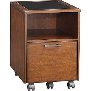 Whalen Astoria File Cart, Brown Cherry