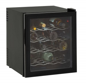 Avanti 16 Bottle Wine Cooler, Black, Reversible Glass Door (EWC1601B) - $49.99