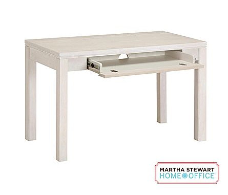martha stewart home office blair desk sand gray business news