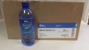 24 Case of Quill Spring Water $2.39