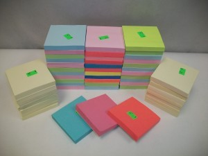 Unwrapped Single Post-it Notes 3″x 3″ 4 for $1