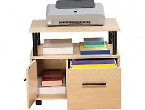 Z-Line Designs Gemini Printer Stand File Cart, Maple/Black