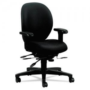 Hon Unanimous Series High-Performance Mid-Back Task Chair, Black