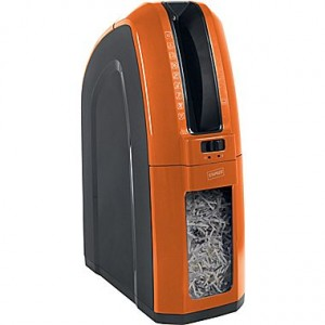 Space-Saver 10-Sheet Cross-Cut Shredder Orange