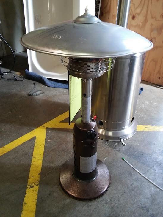 Patio Heater 11 000 BTU Powder Coated Bronze Tabletop