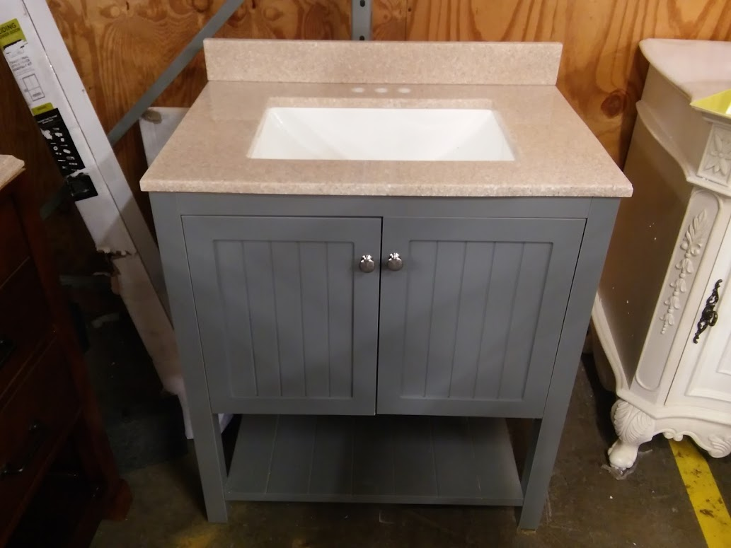 home decorators collection cranbury 30 in. vanity in cool gray