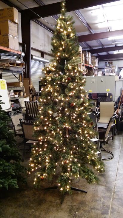 9 ft pre lit alexander pine quick set artificial christmas tree wpinecones clear lights - Martha Stewart 75 Foot Christmas Trees
