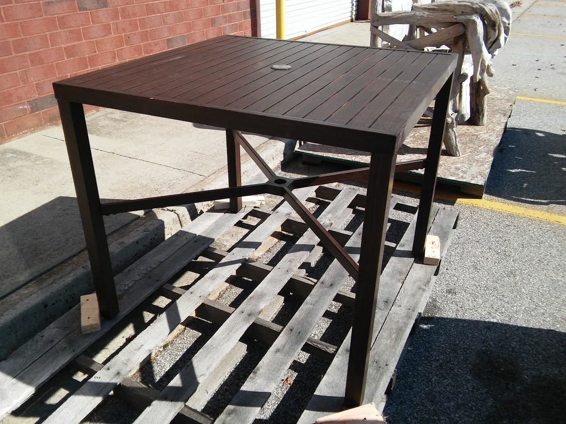 Millstone Patio High Dining Table Hampton Bay A M Office Supply